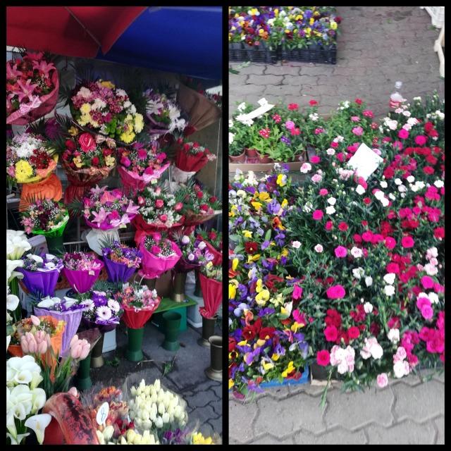 fleurs marché des femmes